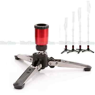 """Mini Tripod Feet Three Legs Support Stand Base 3/8"""" for Monopod Benro Manfrotto"""