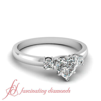 .60 Ct Heart Shaped Cut:Very Good Diamond Engagement Rings For Women F-Color GIA