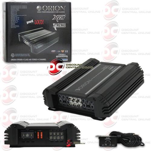 ORION XTR500.4 XTR 4-CHANNEL CLASS AB CAR AMPLIFIER 500W RMS  XTR5004