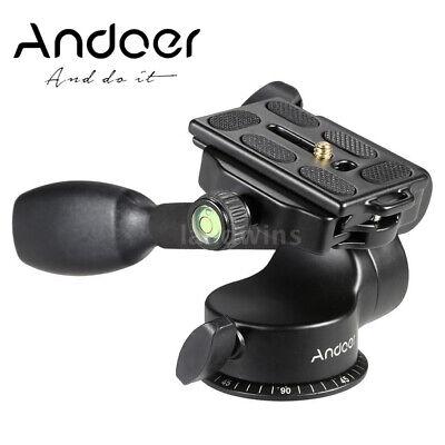 Andoer Video Tripod Ball Head Fluid Head Rocker Arm W/ QR Plate For Camera Z3D9