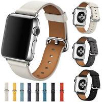Sportivo In Pelle Orologio Con Cinturino Bracciale +classico Fibbia Apple Iwatch - apple - ebay.it