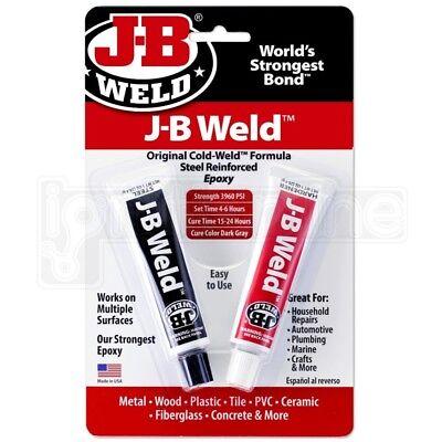 JB Weld Original Cold Weld Steel Reinforced Epoxy Metal Wood Plastic PVC Glue