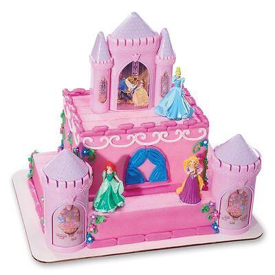 DISNEY PRINCESS Cake Topper Decoration CASTLE Kit Cupcake Belle Ariel Birthday *](Disney Princess Cake Kit)
