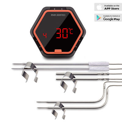 INKBIRD Bluetooth Digital Meat Thermometer Smoker Grills BBQ Cooking App Remote