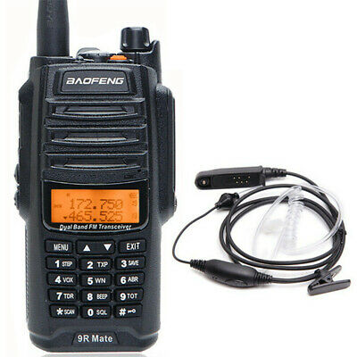 Baofeng UV-9R Mate 10W VHF UHF Walkie Talkie Dual Band Two Way Radio & Headset