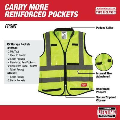 High Performance Smallmedium Yellow Class 2 High Visibility Safety Vest