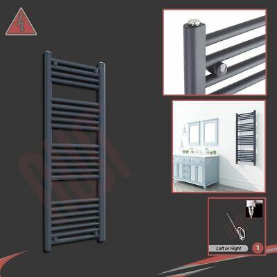 "300W h /""Ellipse/"" Designer Black Electric Heated Towel Rail x 1100mm 500mm w"