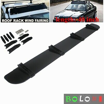 Car Rack Aerodynamic Roof Wind Fairing Air Deflector Kit 40 inches - Universal