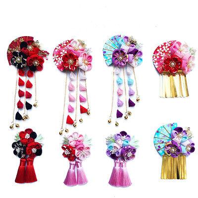 Japanische Frauen Floral Handmake Haarnadel Geisha Kimono Costume - Florale Geisha Kostüm
