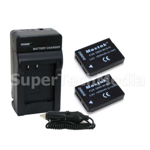 2 Battery+charger For Panasonic Dmw-bcg10 Dmw-bcg10pp Dmc...