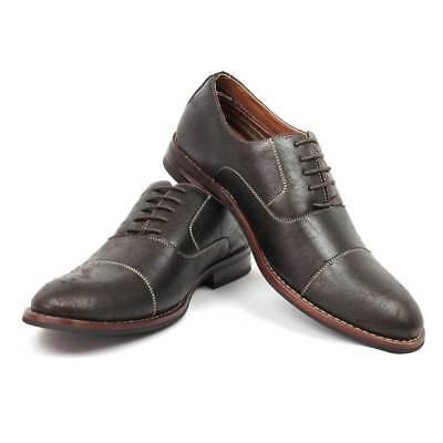 Men's Dress Shoes Cap Toe Lace Up Oxfords Block Heel Modern Ferro Aldo 19515 NEW Cap Toe Oxford Heels