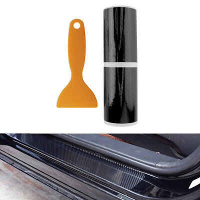4x 5D Car Accessories Door Sill Scuff Welcome Pedal Protect Carbon Fiber Sticker