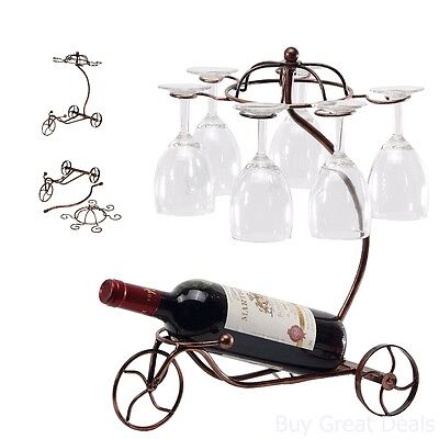 Wine Glasses Racks Bottle Holder Shelves Stand Furniture Home Bar Liquor Decor