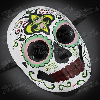 Womens Day of the Dead Skull Skeleton Halloween Masquerade Mask Fluer-De-Lis