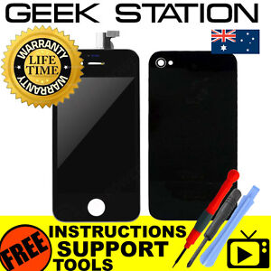 for-iPhone-4-LCD-replacement-touch-screen-digitizer-rear-battery-cover-black