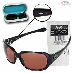 OAKLEY Script Black Sunglasses VR28 Polarized Black