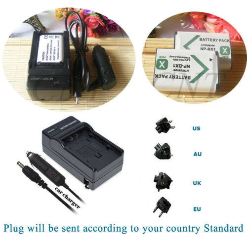 2x NP-BX1 Battery+Car Home Charger for SONY RX100 RX1 X TYPE