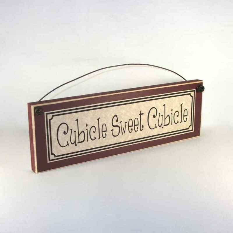 funny office signs CUBICLE SWEET CUBICLE desk plaque work decor decorations