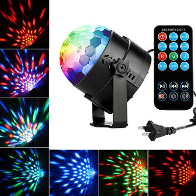 LED RGB Disco DJ Stage Lighting Crystal Magic Ball Effect Light Home Party Decor