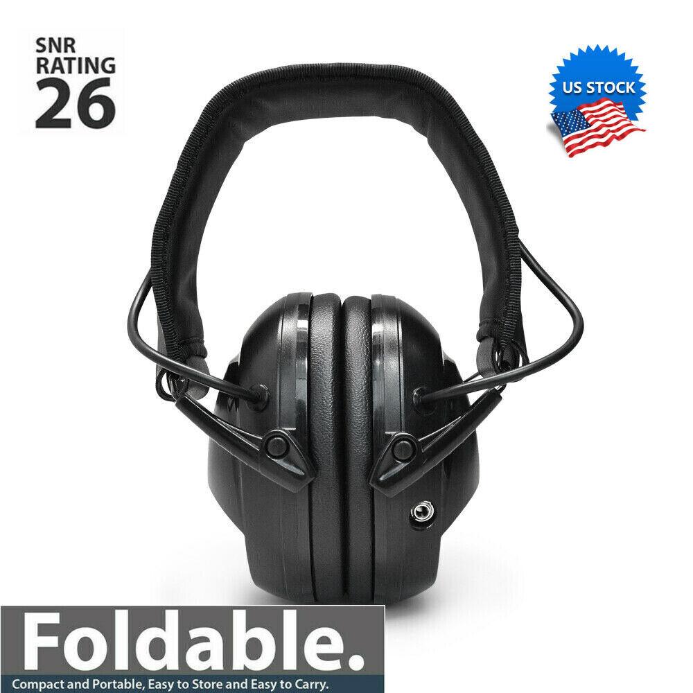 Electronic Shooting Earmuffs Gun Range Noise Canceling Ear Muffs NRR Earphones - $24.43
