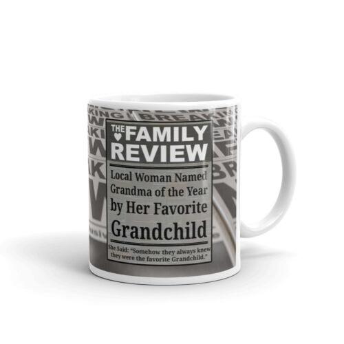 Woman Named Grandma of The Year Coffee Tea Ceramic Mug Offic