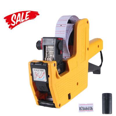 Price Tag Gun Mx-5500 8 Digits  Red Lines Labels 1 Ink Cartridge