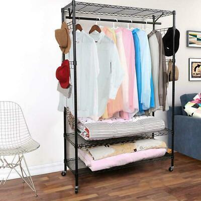 Durable Closet Storage Organizer Garment Rack Home Metal Clothing Hanger System