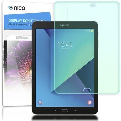 NALIA Schutz Glas für Galaxy Tab S3, Glasfolie Tablet Schutzfilm