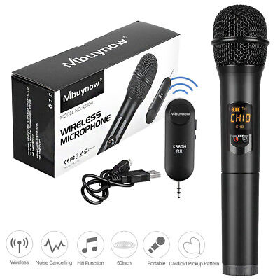 Wireless Bluetooth Karaoke Mikrofone UHF Funkmikrofon Set Funk Mikrofon DJ MIC