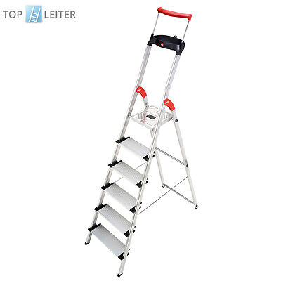 Hailo ComfortLine XXR Stehleiter 6 Stufen mit EasyClix Haushaltsleiter