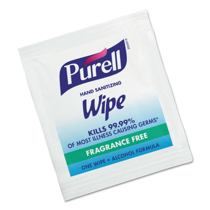 GOJO Premoistened Sanitizing Hand Wipes Individually Wrapped 1000/ctn 90211M NEW