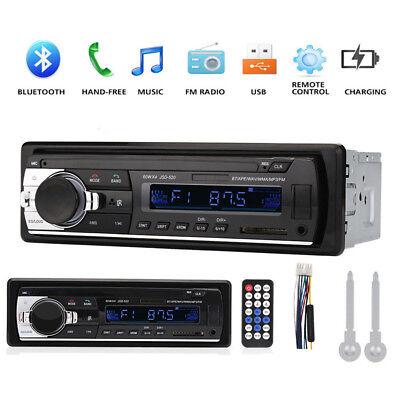 1 Din In Dash Bluetooth Car Stereo Audio Fm Aux Input Receiver Sd Usb Mp3 Radio