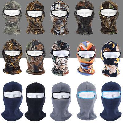Camo Fleece Thermal Balaclava for Cold Weather Skiing Hunting Full Face Mask Camo Fleece Face Mask