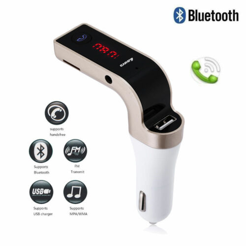 Handsfree G7 Bluetooth For Car Kit USB Charger FM Transmitte