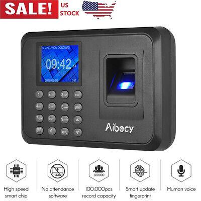 Biometric Fingerprint Checking-in Attendance Machine Employee Time Clock X1u9