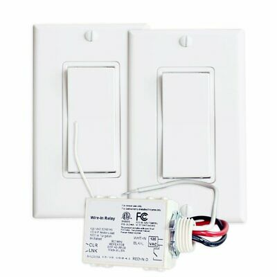 RunLessWire 3-Way Wireless Switch Kit, Self-Powered Rocker Switch, No Wire Light
