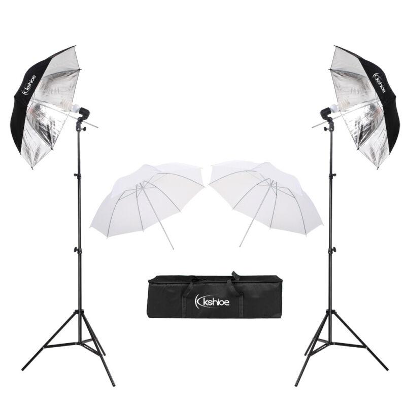 Photo Video Studio Photography Continuous 45W 2 Lights Lighting Kit Umbrella Set