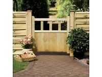 Quality wooden path gate, with ironmongery kit