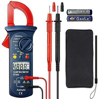 Digital Clamp Meter Multimeter Volt With Auto Ranging Measures Voltage Tester