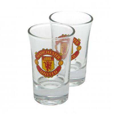 Manchester United F.C - Vaso de Chupito Juego (2 Paquete) - Regalo
