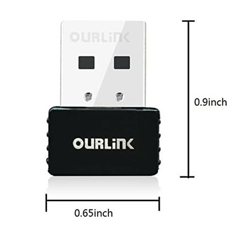 WiFi Adapter Wireless  AC Adapter 600Mbps USB Mini Nano Size For PC Internet LAN Computers/Tablets & Networking