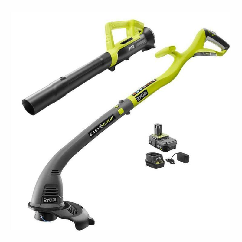 Ryobi P2036 ONE+ 18-Volt Lithium-Ion String Trimmer/Edger and Blower Combo Kit
