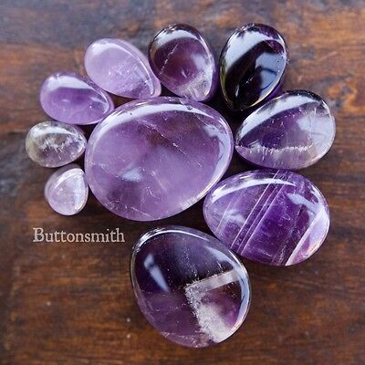 Pair of Teardrop Amethyst Stone Plugs / Gauges 10 sizes 6mm 8mm 10mm 11mm 25mm