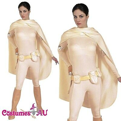 e Amidala Costume Star Wars Bodysuit Womens Fancy Dress (Padme Amidala Dress)