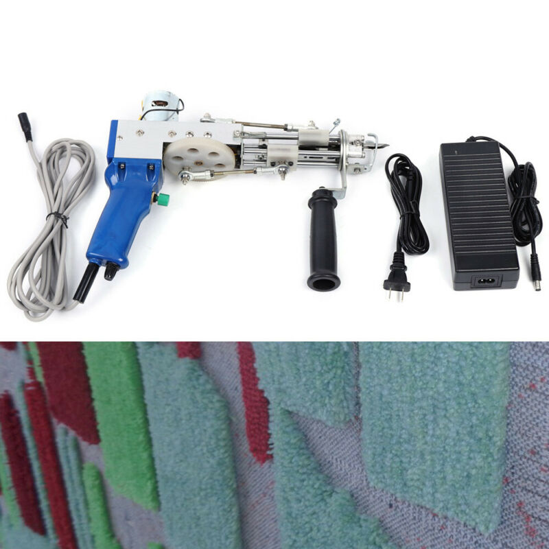 Manual Electric Carpet Tufting Gun Cut pile Type Rug Weaving Flocking Machine