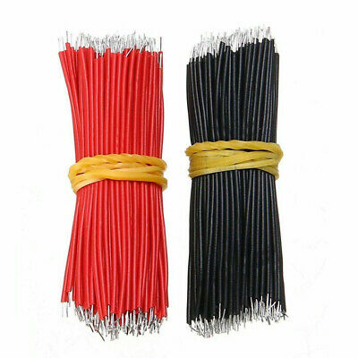 200pcs Black Red Kit Motherboard Breadboard Jumper Cable Wires Set Tinned 8cm