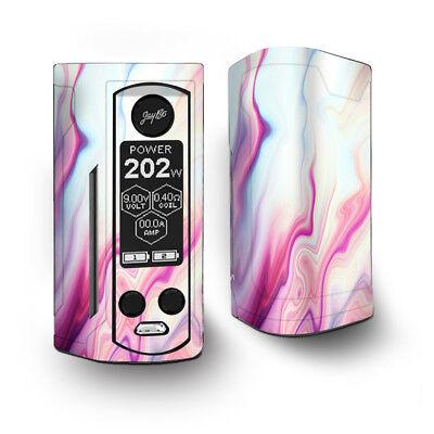 Skin Decal for Wismec Reuleaux RX Gen3 Dual Vape / Pink Marble Glass pastel