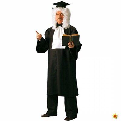 Kostüm Richter Paul Gr. L Talar schwarz Karneval - Schwarze Richter Robe Kostüm