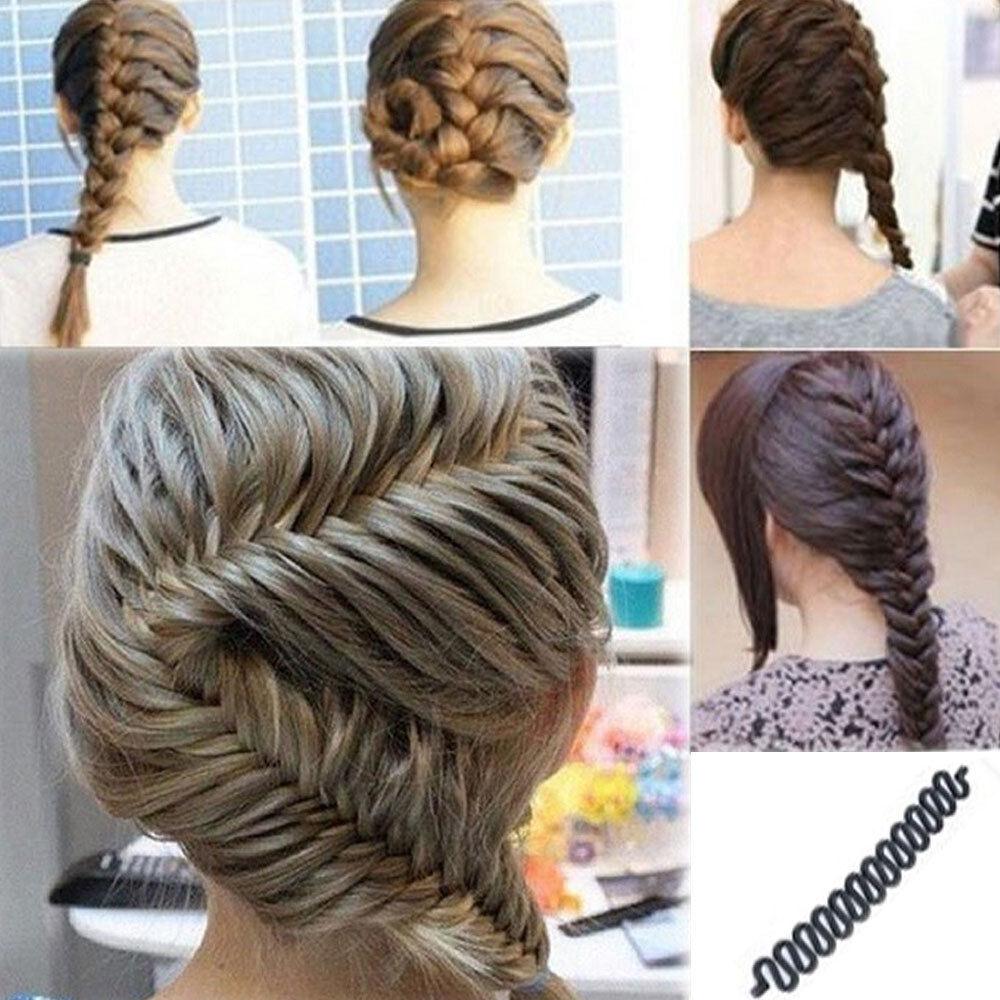 Accessori capelli acconciatura supporto treccia trecce intreccio styling  donna ... 96e14c780b48