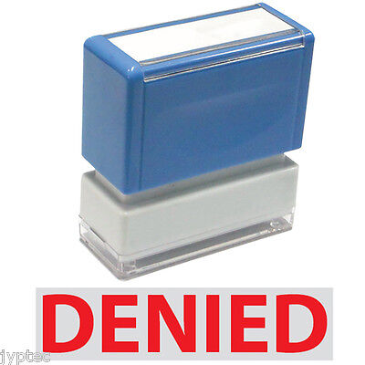 Denied - Jyp Pa1040 Pre-inked Rubber Stamp Red Ink